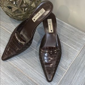 Brighton Pamela Leather Slide Shoes Size 8.5